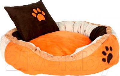 Лежанка для животных Trixie Bonzo 37716 (оранжево-бежево-коричневый) - общий вид