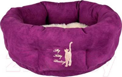Лежанка для животных Trixie My Kitty Darling 36911 (фиолетово-кремовый) - общий вид