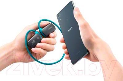 Наушники-плеер Sony NWZ-WS615L - подключение
