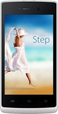 Смартфон Keneksi Step (белый) - общий вид