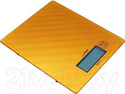 Кухонные весы Lumme LU-1318 (золотой с орнаментом) - общий вид