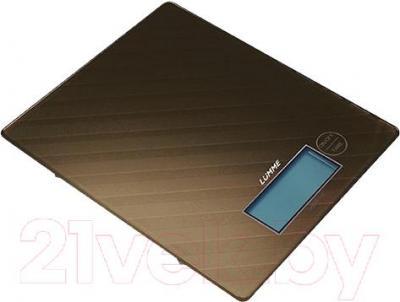 Кухонные весы Lumme LU-1318 (титановый с орнаментом) - общий вид