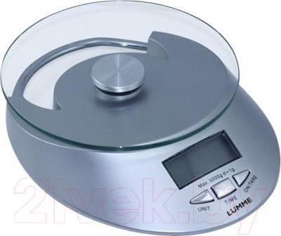 Кухонные весы Lumme LU-1320 (серебристый) - общий вид