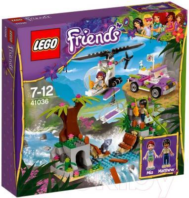 Конструктор Lego Friends Джунгли: Спасательная операция на мосту (41036) - упаковка