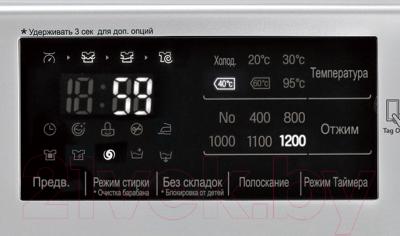 Стиральная машина LG F12U2HDN5 - дисплей