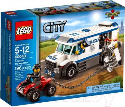 Конструктор Lego City Автомобиль для перевозки заключённых (60043) - упаковка