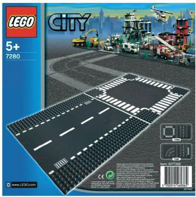 Элемент конструктора Lego City Прямая дорога и перекрёсток (7280)  - упаковка