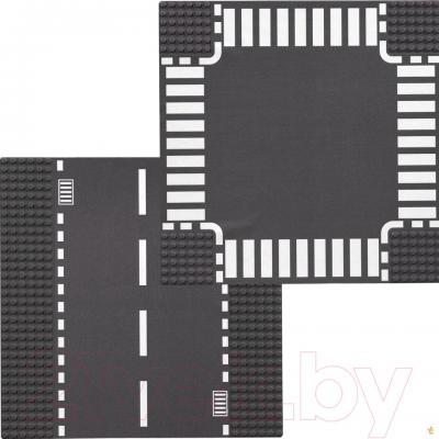 Элемент конструктора Lego City Прямая дорога и перекрёсток (7280)  - общий вид