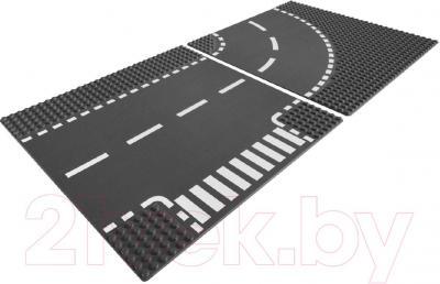 Элемент конструктора Lego City Т-образный перекрёсток и поворот (7281) - общий вид