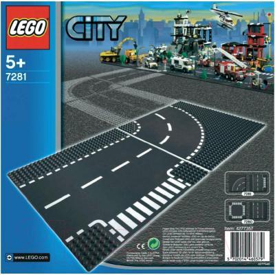 Элемент конструктора Lego City Т-образный перекрёсток и поворот (7281) - упаковка