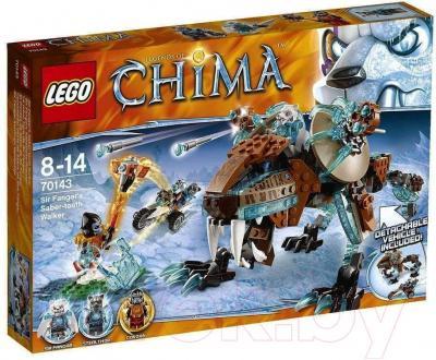 Конструктор Lego Chima Саблезубый шагающий робот Сэра Фангара (70143) - упаковка