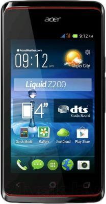 Смартфон Acer Liquid Z7 Z200 (черный) - общий вид