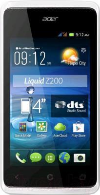 Смартфон Acer Liquid Z7 Z200 (белый) - общий вид