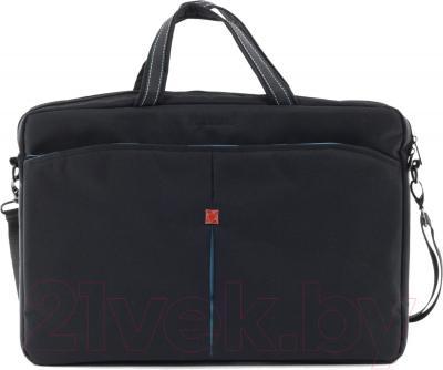 Сумка для ноутбука Continent CC-017 (черный) - общий вид