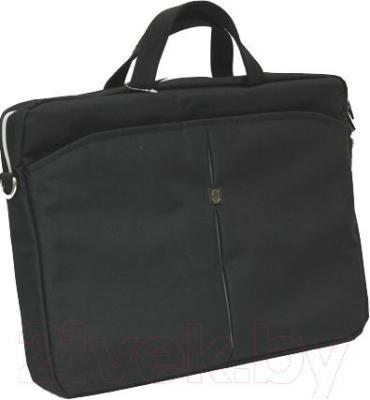 Сумка для ноутбука Continent CC-01 (черный/серебристый) - общий вид