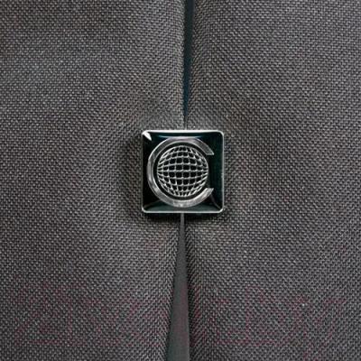 Сумка для ноутбука Continent CC-01 (черный/серебристый) - логотип