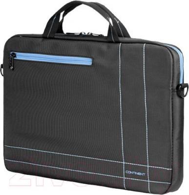 Сумка для ноутбука Continent CC201 (серо-голубой) - общий вид