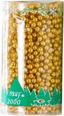 Бусы для ёлки Mag 2000 030446 (Gold) - общий вид