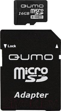 Карта памяти Qumo microSDHC (Class 4) 4GB (QM4GMICSDHC4) - общий вид