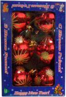Набор ёлочных шаров Mag 2000 032570 (красный, 6 шт) -