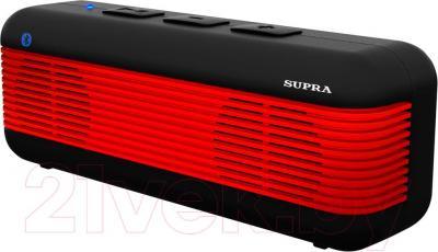 Портативная колонка Supra BTS-525 (красный) - общий вид