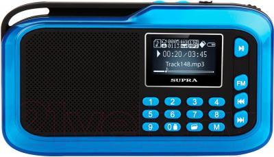 Портативная колонка Supra PAS-3909 (синий) - общий вид