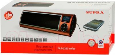 Портативная колонка Supra PAS-6255 (Coffee) - в упаковке