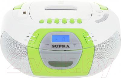 Магнитола Supra BB-CD104 (White-Green) - общий вид