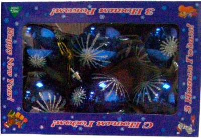 Набор ёлочных игрушек Mag 2000 032570 (Blue, 6 шт) - общий вид