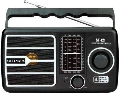 Радиоприемник Supra ST-121 (черный) - общий вид