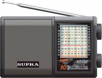 Радиоприемник Supra ST-123 (черный) - общий вид