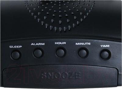 Радиочасы Supra SA-28FM (черно-красный) - элементы управления