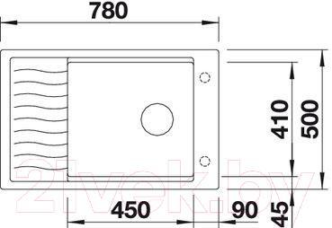 Мойка кухонная Blanco Elon XL 6 S / 518737 - габаритные размеры