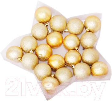 Набор ёлочных шаров Mag 2000 030798 (Gold, 20 шт) - общий вид
