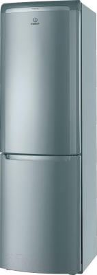 Холодильник с морозильником Indesit PBAA 337 F X - общий вид