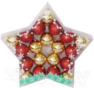 Набор ёлочных шаров Mag 2000 03080 (красно-золотой, 20 шт) - общий вид