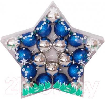 Набор ёлочных шаров Mag 2000 030804 (Blue-Silver, 20 шт) - общий вид