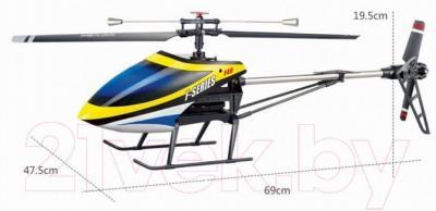 Радиоуправляемая игрушка MJX Вертолет F649(F49) - размеры