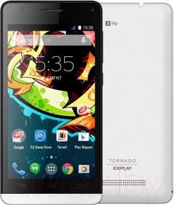 Смартфон Explay Tornado (белый) - вид сзади
