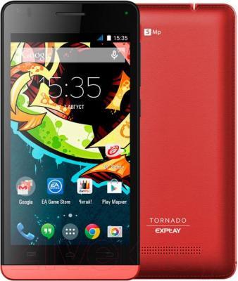 Смартфон Explay Tornado (Red) - с задней панелью