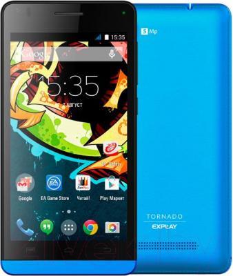 Смартфон Explay Tornado (синий) - с задней панелью