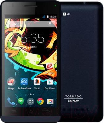 Смартфон Explay Tornado (черный) - с задней панелью
