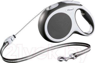 Поводок-рулетка Flexi Vario 12010 (S, антрацит) - общий вид