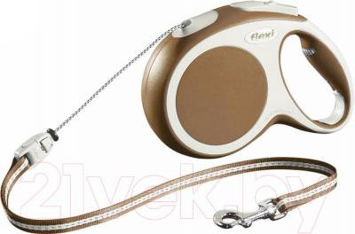 Поводок-рулетка Flexi Vario 12017 (S, коричневый) - общий вид