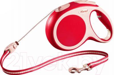 Поводок-рулетка Flexi Vario 12033 (M, красный) - общий вид