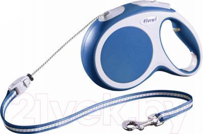 Поводок-рулетка Flexi Vario 12012 (S, синий) - общий вид