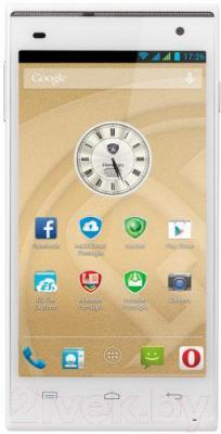 Смартфон Prestigio MultiPhone 5505 Duo (белый) - общий вид