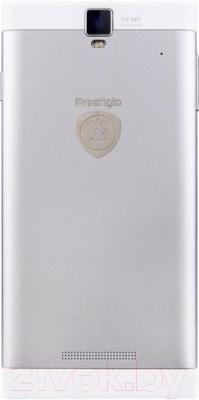 Смартфон Prestigio MultiPhone 5505 Duo (белый) - вид сзади