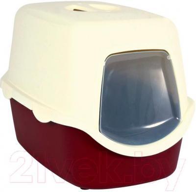 Туалет-домик Trixie Vico 40273 (бордово-кремовый) - общий вид