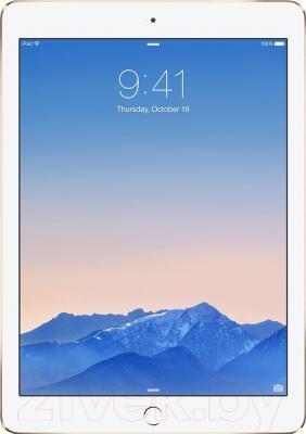 Планшет Apple iPad Air 2 64Gb 4G / MH172TU/A (золотой) - фронтальный вид